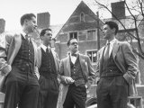 Tartan Vests Worn with Sports Jackets are Favored by These Yale Undergraduates Photographic Print