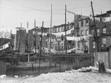 Lines Loaded with Drying Laundry over the Backyards of Tenements in the Red Hook Section Premium Photographic Print by Alfred Eisenstaedt