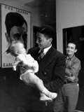Communist Party Member Angelo Herndon Holding Baby Premium Photographic Print by Alfred Eisenstaedt