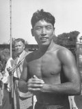 Japanese Swimmer Hironoshin Furuhashi Premium Photographic Print by Allan Grant