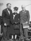 Harry S. Truman Campaigning for His Re-Election, Standing with Tom C. Clark and His Mother Premium Photographic Print by Peter Stackpole