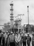 Crew Working at the Oil Shale Refinery, Standing in Front of Plant for Group Picture Premium Photographic Print by J. R. Eyerman
