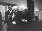 President of Finland, Uhro K. Kekkonen, W. Nikita S. Khrushchev at Party at Finland Embassy Premium Photographic Print