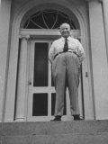 Nikita S. Khrushchev on Blair House Porch Premium Photographic Print by Carl Mydans