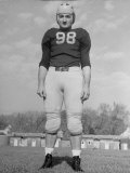Portrait of Michigan Halfback Tom Harmon in Uniform Photographic Print by Alfred Eisenstaedt