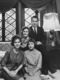 Richard M. Nixon and His Family at their Home Premium Photographic Print by Ralph Crane