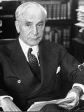Cordell Hull, Secy of the State, Sitting in His Office in the State Department Building Premium Photographic Print by Alfred Eisenstaedt