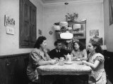 Family Having a Cup of Hot Milk before Going to Bed Premium Photographic Print by Dmitri Kessel