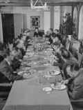Dorothy Shaver, President of Lord and Taylor Department Stores, Having Lunch with Her Executives Premium Photographic Print
