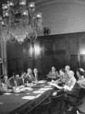 Chairman Leo Allen, Holding a Congressional Appraisal Committee: House Rules Committee Meeting Premium Photographic Print by Martha Holmes