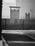West Berliners Standing on a Sightseeing Platform on the West Side of the Wall Premium Photographic Print by Ralph Crane