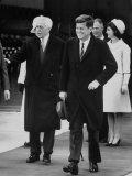 Pres. John F. Kennedy and Mrs. John F. Kennedy Premium Photographic Print