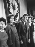 Sen. John F. Kennedy Campaigning for President Premium Photographic Print