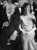 Mrs. John F. Kennedy Talking with Ussr Nikita S. Khrushchev Premium Photographic Print