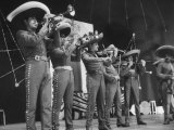 """""""Mariachi"""" Band Playing for the Manizales Premium Photographic Print"""