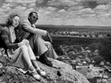 Bamangwato Tribal Chief Seretse Khama with Wife Ruth, Tribal Capital of Bechuanaland Premium Photographic Print by Margaret Bourke-White
