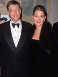 Microsoft Ceo Bill Gates W. Wife Melinda at for All Kids Foundation Premium Photographic Print