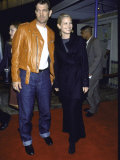 Musician Actor Chris Isaak and Actress Bridget Fonda at Film Premiere of &quot;Fight Club&quot; Premium Photographic Print by Mirek Towski