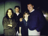 Actor Christopher Reeve and Wife Dana with their Children Premium Photographic Print