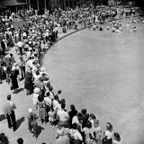 Jehovah's Witnesses Attending a Mass Baptism at Gay's Pickwick Swim Park Photographic Print by Loomis Dean