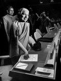 Mme. Vijayalakshmi Pandit Smiling Premium Photographic Print by Lisa Larsen