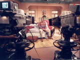 "Comedian Bill Cosby Filming His TV Show ""The Cosby Show"" Premium Photographic Print"