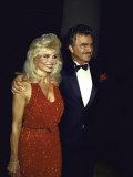 Married Actors Loni Anderson and Burt Reynolds Premium Photographic Print by Kevin Winter