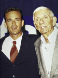 Actor Luke Perry and Producer Aaron Spelling Premium Photographic Print by Mirek Towski