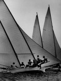 Log Canoe Sailboats Racing on the Chesapeake Bay Photographic Print