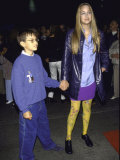 Actress Leelee Sobieski and Brother Robie at Cirque De Soleil&#39;s &quot;Dralion&quot; Premium Photographic Print by Mirek Towski