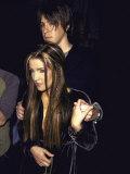 Lisa Marie Presley and Boyfriend, Musician John Oszajca Premium Photographic Print by Marion Curtis