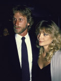 Married Actors Peter Horton and Michelle Pfeiffer Premium Photographic Print by Ann Clifford