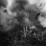 WWII Action on Iwo Jima. Photographer W. Eugene Smith Was Wounded Taking Photo of This Explosion Photographic Print