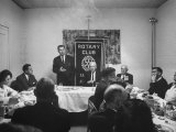 Republican James D. Martin Addressing Rotary Club During Campaign for Governor Premium Photographic Print