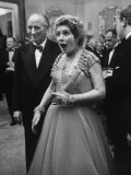 Lady Bernard Docker in Formal Dress at Fabulous Party Thrown by Her Premium Photographic Print by Carl Mydans