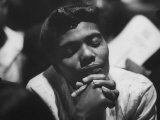 Unidentified African American Woman at Meeting During Bus Boycott Photographic Print