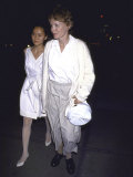 Actress Mia Farrow and Daughter Soon Yi Previn Premium Photographic Print by David Mcgough