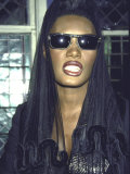 Singer Grace Jones Premium Photographic Print