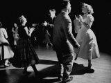 Teen Couples Swing Dancing Premium Photographic Print