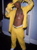 Singer Sisqo in Yellow Suit at Clickradio Launch Party Premium Photographic Print by Sylvain Gaboury