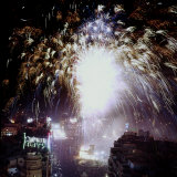 Fireworks During the Festival of the Fallas Photographic Print by Carlo Bavagnoli