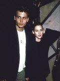 Actors Johnny Depp and Winona Ryder Premium Photographic Print