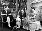 Rep. Albert Gore at Home with Wife Pauline 3-Yr-Old Son Al Jr. and 13-Yr-Old Daughter Nancy Premium Photographic Print by Ed Clark