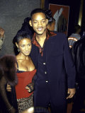 Married Actors Jada Pinkett and Will Smith at Mtv Music Video Awards Premium Photographic Print by Dave Allocca