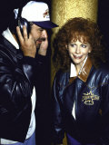 Singers Vince Gill and Reba Mcentire Premium Photographic Print by Kevin Winter
