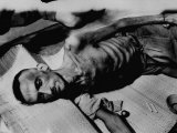 French Pow Lying Down after His Return Premium Photographic Print
