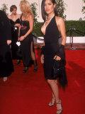 Actress Salma Hayek in Low-Cut Black Dress at Blockbuster Awards Premium Photographic Print by Mirek Towski