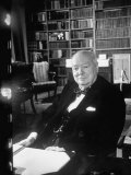 Former P.M., Winston Churchill Premium Photographic Print by Carl Mydans