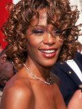 Entertainer Whitney Houston at 50th Annual Grammy Awards Kunst på  metal af Mirek Towski