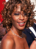 Entertainer Whitney Houston at 50th Annual Grammy Awards Lámina fotográfica de primera calidad por Mirek Towski